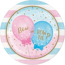 "***Gender Reveal Balloons 9"" Dinner Plates 8ct"