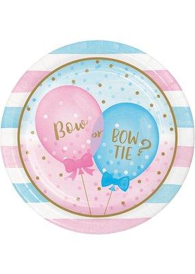 """***Gender Reveal Balloons 9"""" Dinner Plates 8ct"""
