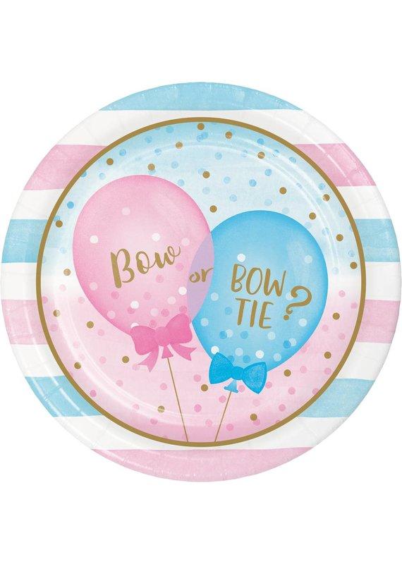 """****Gender Reveal Balloons 9"""" Dinner Plates 8ct"""