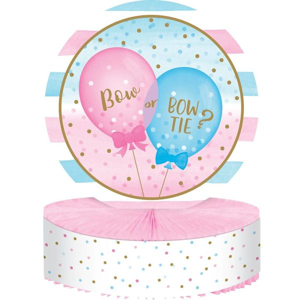 *Gender Reveal Balloons Honeycomb Centerpiece