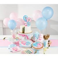 "*Gender Reveal Balloons 7"" Dessert Plates 8ct"
