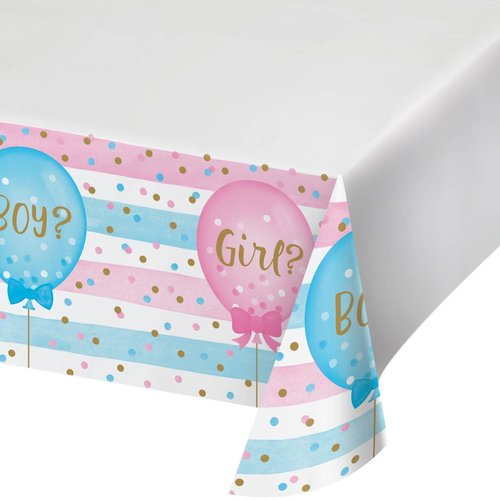 *Gender Reveal Balloons Plastic Tablecover