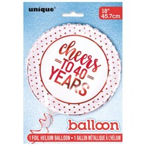 ***Cheers to 40 Years Mylar Balloon