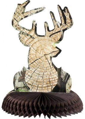 ****Cut Timber Buck Centerpiece