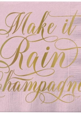 ***Make It Rain Champagne Beverage Napkin