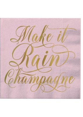 ***Make It Rain Champagne Beverage Napkin