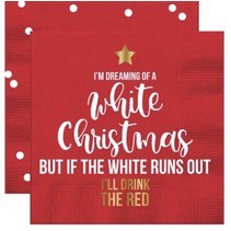 I'm Dreaming White Christmas Beverage Napkin