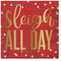 Sleigh All Day Beverage Napkin