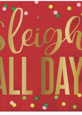 ***Sleigh All Day Beverage Napkin