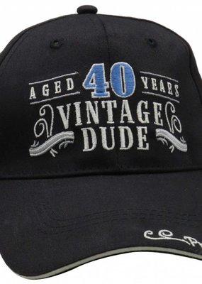 ***Vintage Dude 40 Black Hat