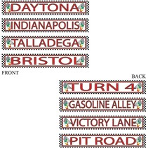 *NASCAR Racing Street Signs 4ct