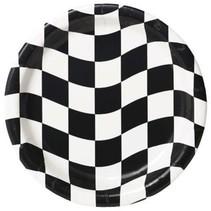 "***Black & White Check 7"" Dessert Plates 8ct"