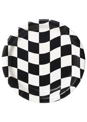 "****Black & White Check 7"" Dessert Plates 8ct"