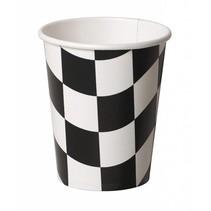 ***Black & White Checks 9oz Cups