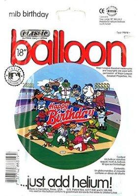 ***Major League Baseball Birthday Mylar Balloon