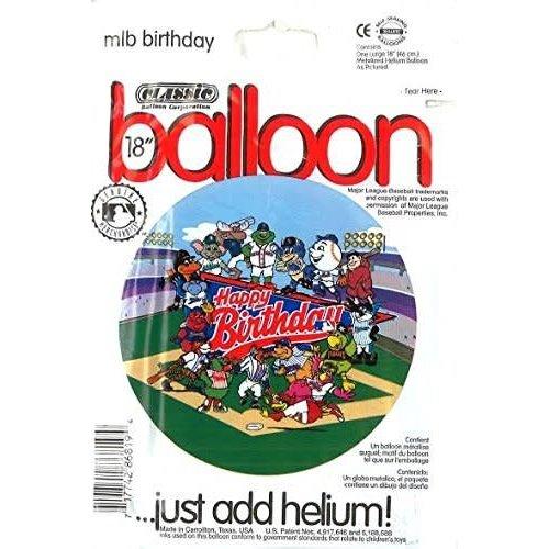 *Major League Baseball Birthday Mylar Balloon