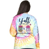 ***Long Sleeve Preppy PBJ Tiedye