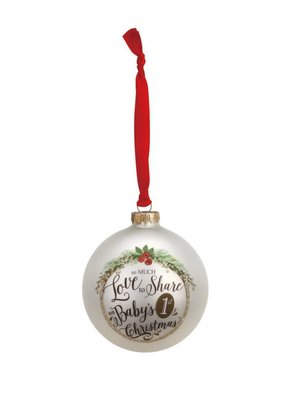 ***Baby's 1st Christmas Glass Ball Ornament