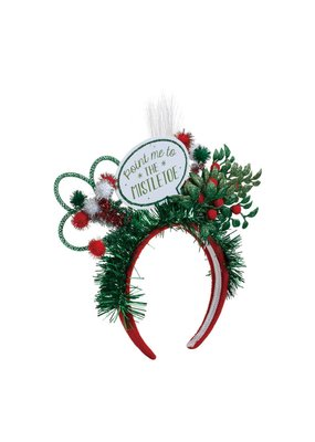 ***Lit Point Me to the Mistletoe Headband