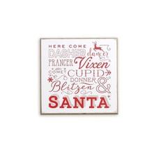 Reindeer and Santa Wood Sign