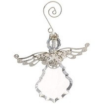 Crystal Angel with Metal Wings Ornament