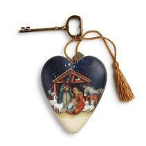 ***O Holy Night Nativity Art Heart
