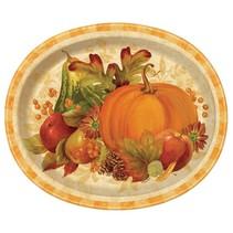 ***Pumpkin Harvest Oval Plate