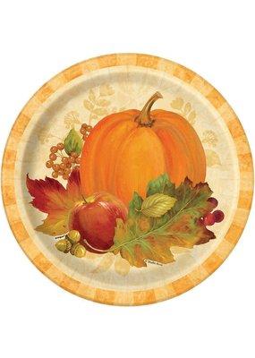 "***Pumpkin Harvest 9"" plates 8ct"