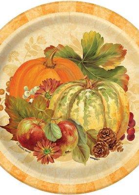 "***Pumpkin Harvest 7"" plates 8ct"
