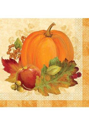 ***Pumpkin Harvest Lunch Napkin 16ct