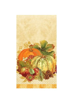 ***Pumpkin Harvest Guest Towel 16ct