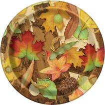 "***Woodland Fall 7"" dessert plates 8ct"