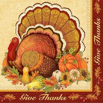 ***Give Thanks Fall Lunch Napkins 16ct