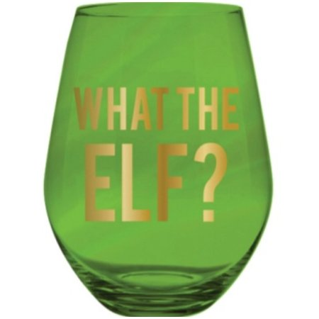 What the Elf? 30oz Stemless Wine Glass