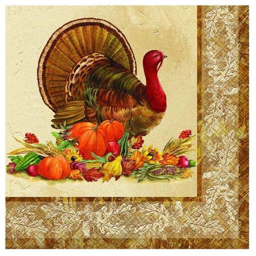 ***Rustic Turkey Lunch Napkin 16ct