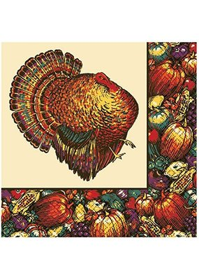 ***T/S Autumn Turkey Lunch Napkin 20ct