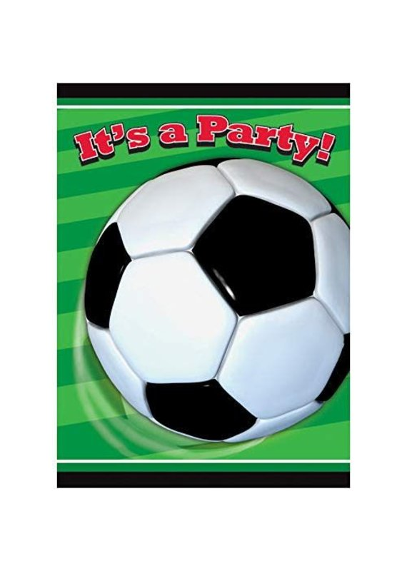 ***Soccer Party Invitations 8ct