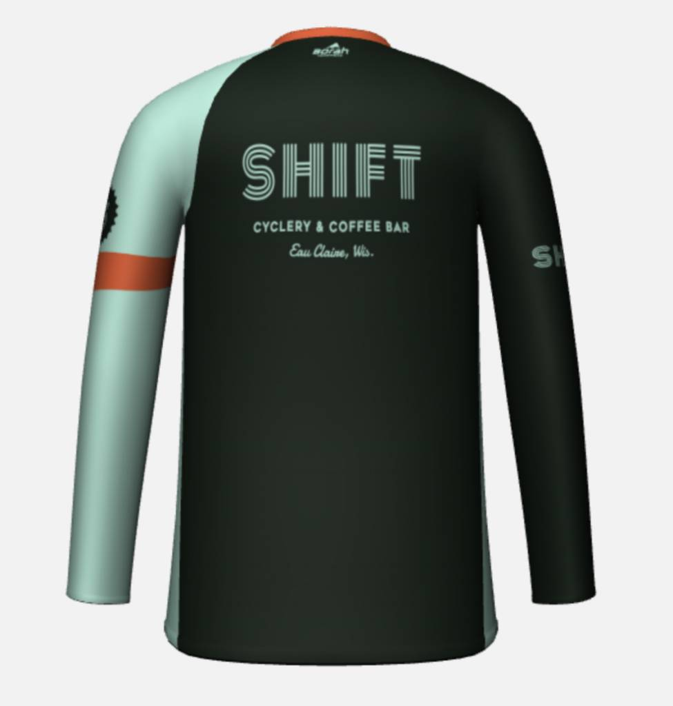 Shift Cyclery & Coffee Bar SHIFT Adventure Club Men's Long Sleeve Free Ride Jersey