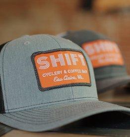Shift Cyclery & Coffee Bar SHIFT Richardson Snapback Trucker Hat Heather Grey Black
