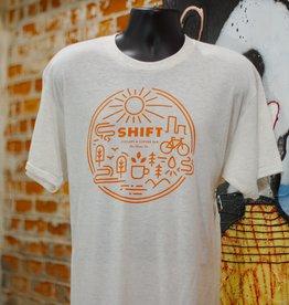 Shift Cyclery & Coffee Bar SHIFT Landscape T-Shirt American Apparel Orange 2XL