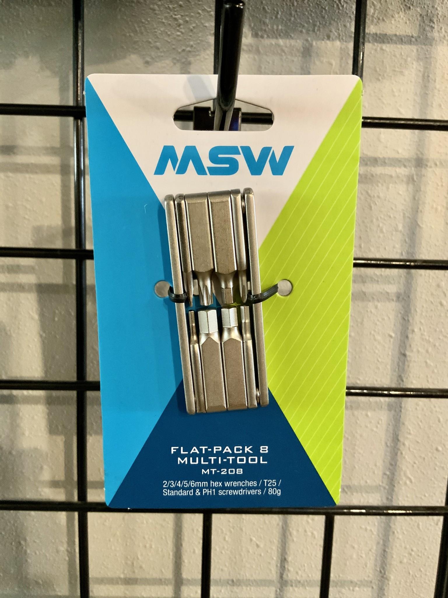 MSW MSW MT-208 Flat-Pack Multi-Tool, 8 Bit