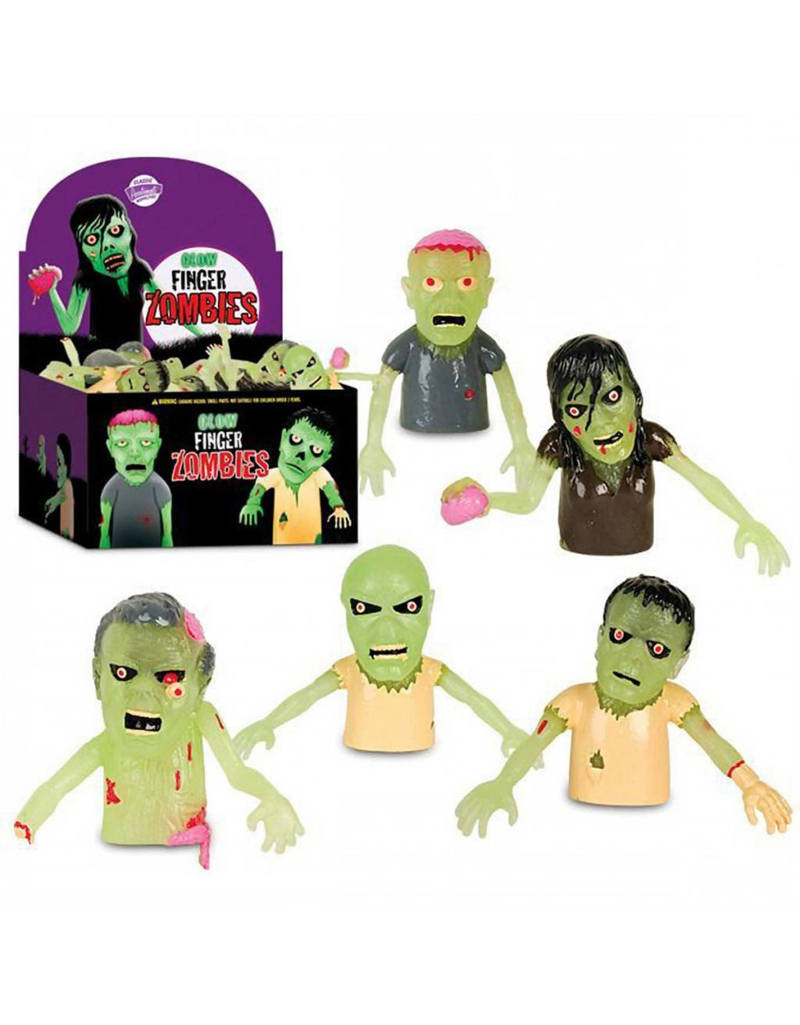 Accoutrements Glow Finger Zombies