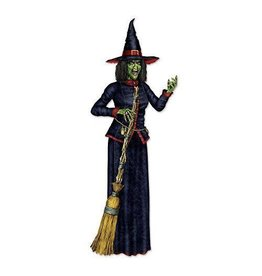 Beistle Jointed Witch Cutout