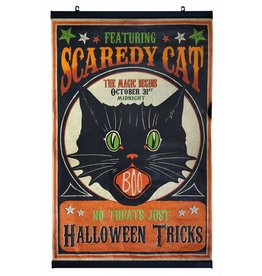 Bethany Lowe Scaredy Cat Scroll