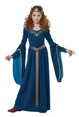 California Costume Medieval Princess Teal