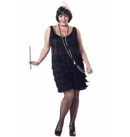 California Costume Flapper Black Plus