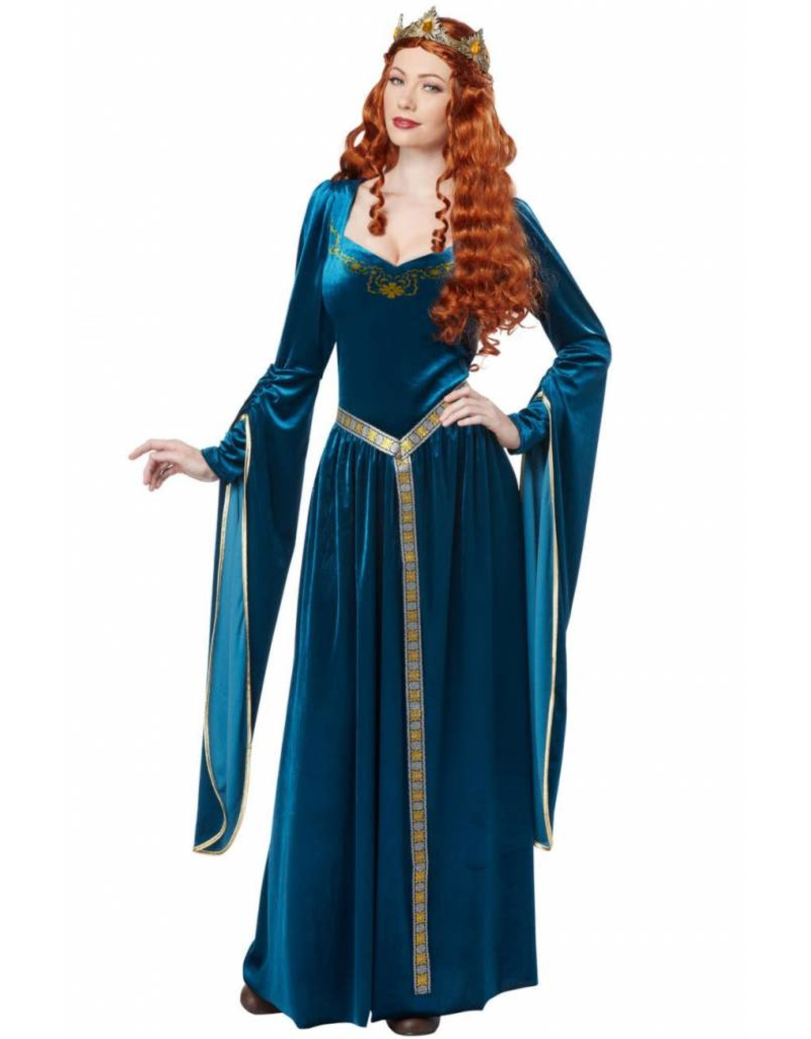 California Costume Lady Guinevere Teal