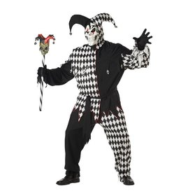 California Costume Evil Jester Blk/Wht Plus