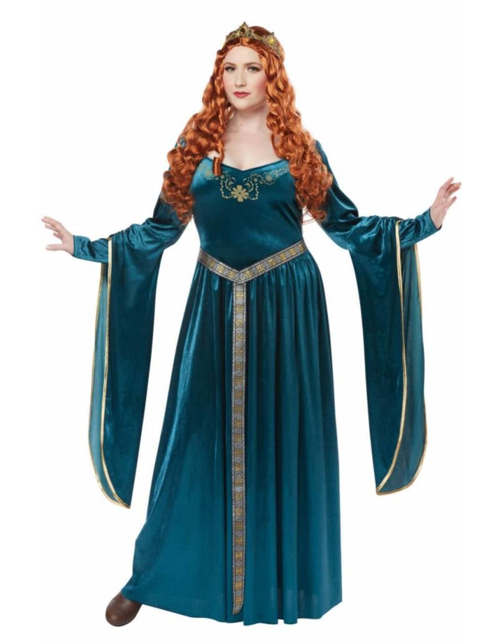 California Costume Lady Guinevere Teal 1X