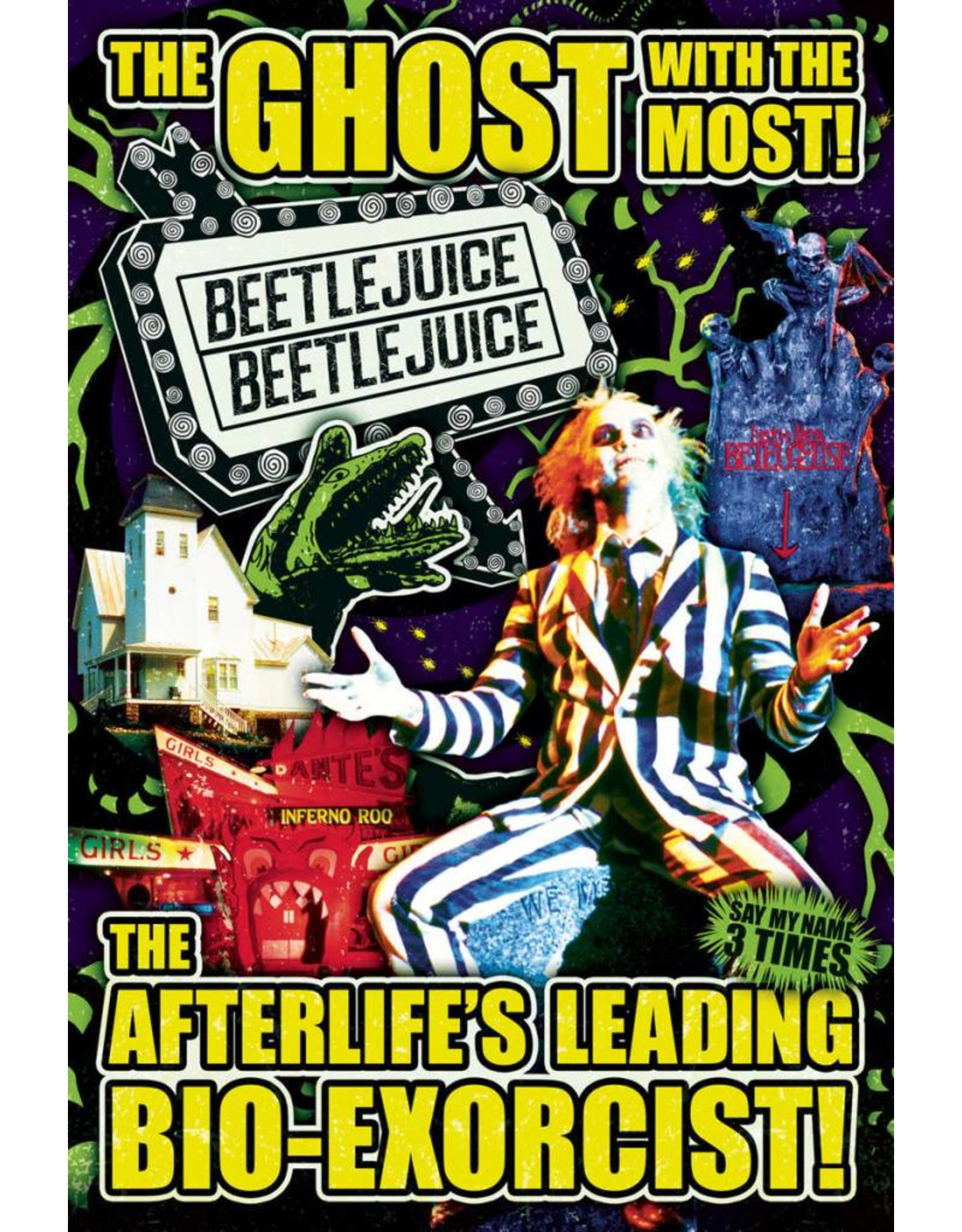 Posters Wholesale Poster - Beetlejuice Ghost With the Most
